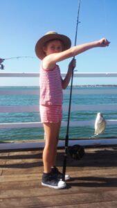 kids fishing local fishing bait