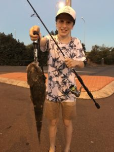 Luca with his first Flathead