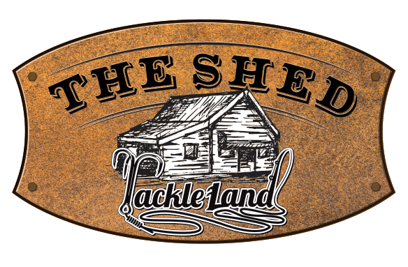 The Shed Logo Tackle Land